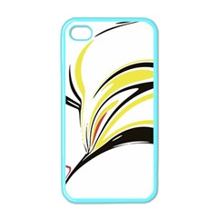 Abstract Flower Design Apple Iphone 4 Case (color)