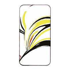 Abstract Flower Design Apple iPhone 4/4s Seamless Case (Black)