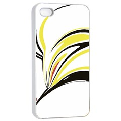 Abstract Flower Design Apple iPhone 4/4s Seamless Case (White)