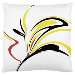 Abstract Flower Design Large Cushion Cases (one Side)