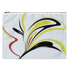 Abstract Flower Design Cosmetic Bag (xxl)