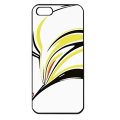 Abstract Flower Design Apple iPhone 5 Seamless Case (Black)