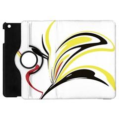 Abstract Flower Design Apple Ipad Mini Flip 360 Case