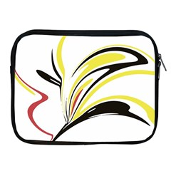 Abstract Flower Design Apple iPad 2/3/4 Zipper Cases