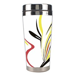 Abstract Flower Design Stainless Steel Travel Tumblers