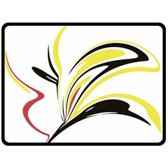 Abstract Flower Design Double Sided Fleece Blanket (large)