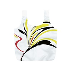 Abstract Flower Design Full Print Recycle Bags (s)