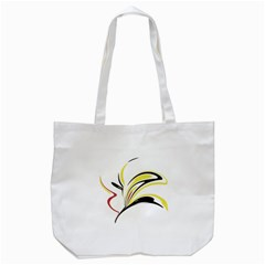 Abstract Flower Design Tote Bag (white)