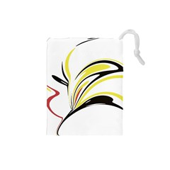 Abstract Flower Design Drawstring Pouches (small)