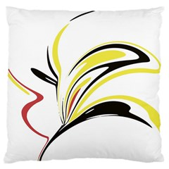 Abstract Flower Design Large Flano Cushion Cases (one Side)