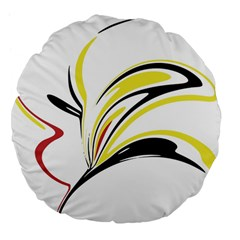 Abstract Flower Design Large 18  Premium Flano Round Cushions
