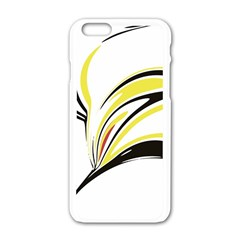 Abstract Flower Design Apple iPhone 6 White Enamel Case