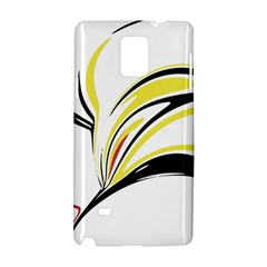 Abstract Flower Design Samsung Galaxy Note 4 Hardshell Case