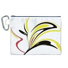 Abstract Flower Design Canvas Cosmetic Bag (XL)