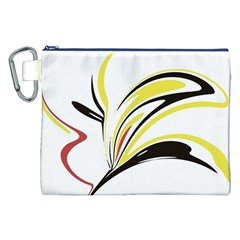 Abstract Flower Design Canvas Cosmetic Bag (xxl)