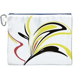 Abstract Flower Design Canvas Cosmetic Bag (XXXL)