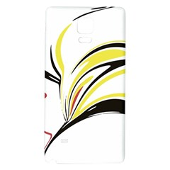 Abstract Flower Design Galaxy Note 4 Back Case
