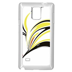 Abstract Flower Design Samsung Galaxy Note 4 Case (White)