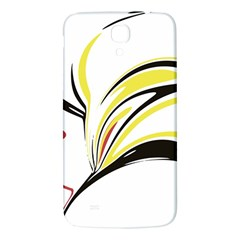 Abstract Flower Design Samsung Galaxy Mega I9200 Hardshell Back Case
