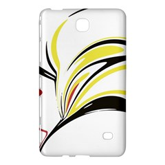 Abstract Flower Design Samsung Galaxy Tab 4 (8 ) Hardshell Case