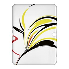 Abstract Flower Design Samsung Galaxy Tab 4 (10 1 ) Hardshell Case