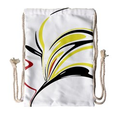 Abstract Flower Design Drawstring Bag (large)