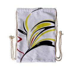 Abstract Flower Design Drawstring Bag (small)