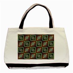 Rhombus Flowers Pattern Basic Tote Bag