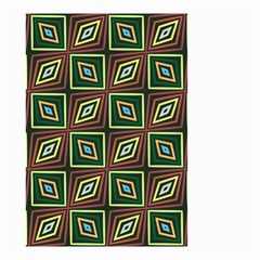 Rhombus Flowers Pattern Small Garden Flag