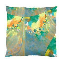 Abstract Flower Design In Turquoise And Yellows Standard Cushion Case (one Side)