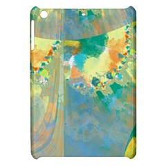 Abstract Flower Design In Turquoise And Yellows Apple Ipad Mini Hardshell Case