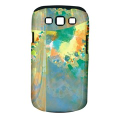 Abstract Flower Design in Turquoise and Yellows Samsung Galaxy S III Classic Hardshell Case (PC+Silicone)