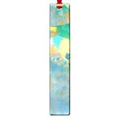 Abstract Flower Design in Turquoise and Yellows Large Book Marks