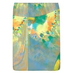 Abstract Flower Design In Turquoise And Yellows Flap Covers (l)
