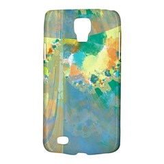 Abstract Flower Design In Turquoise And Yellows Galaxy S4 Active