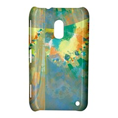Abstract Flower Design in Turquoise and Yellows Nokia Lumia 620