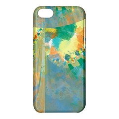 Abstract Flower Design In Turquoise And Yellows Apple Iphone 5c Hardshell Case