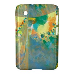 Abstract Flower Design in Turquoise and Yellows Samsung Galaxy Tab 2 (7 ) P3100 Hardshell Case