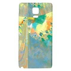 Abstract Flower Design in Turquoise and Yellows Galaxy Note 4 Back Case