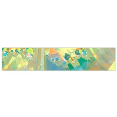 Abstract Flower Design in Turquoise and Yellows Flano Scarf (Small)
