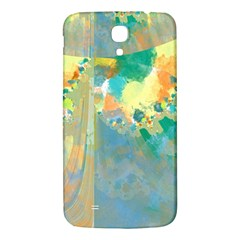 Abstract Flower Design in Turquoise and Yellows Samsung Galaxy Mega I9200 Hardshell Back Case