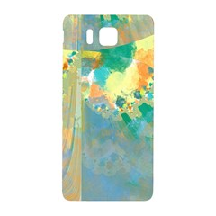 Abstract Flower Design in Turquoise and Yellows Samsung Galaxy Alpha Hardshell Back Case