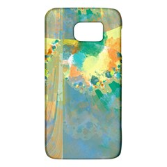 Abstract Flower Design in Turquoise and Yellows Galaxy S6