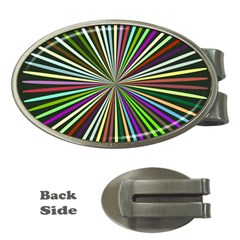 Colorful Rays Money Clip (oval)