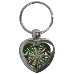 Colorful Rays Key Chain (heart)