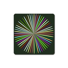 Colorful Rays Magnet (square)