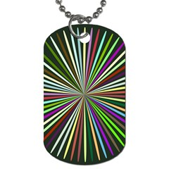Colorful Rays Dog Tag (two Sides)