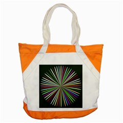 Colorful Rays Accent Tote Bag