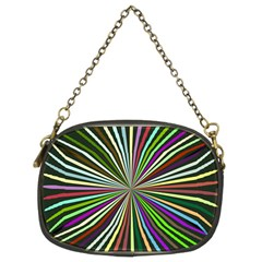 Colorful Rays Chain Purse (two Sides)