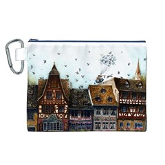 Rooftop Canvas Cosmetic Bag (l)